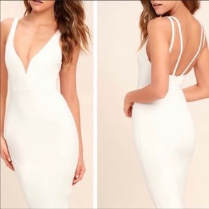 Lulu's Gracefully Yours white/off white sexy dress